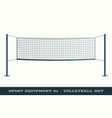 realistic volleyball net for sport game activity vector image