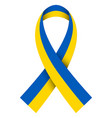 ribbon flag ukraine ua flag ukraine vector image