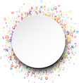 Round card with letters vector image vector image