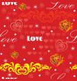 seamless valentines day pattern 9 vector image