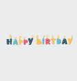 set birthday numbers vector image vector image