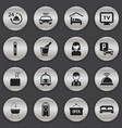 set of 16 editable plaza icons includes symbols vector image