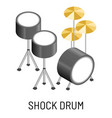 shock drum isolated musical instrument percussion vector image