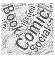 Social issues in comic books Word Cloud Concept