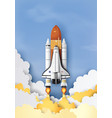 space shuttle taking off on a mission vector image vector image