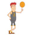 spinning a basketball vector image vector image