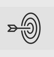 target icon darts board with arrow isolated vector image