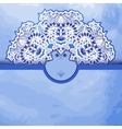 Template greeting card or invitation with a blue vector image