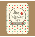 valentine greeting or invitation card vector image vector image