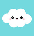 white cloud icon smiling face tongue fluffy vector image vector image