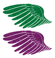 wings made of floral vector image vector image