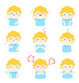 xavariety boy face expression vector image vector image