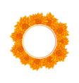 yellow chrysanthemum banner wreath vector image vector image