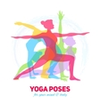 Yoga Fitness Concept vector image vector image