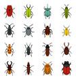 bugs set flat icons vector image