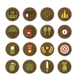 Military and war icons set Army infographic design vector image