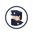 Police isometric avatar vector image