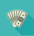 dollars banknote flat icon vector image