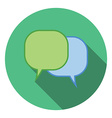 Flat design concept for dialog speach bubbles vector image