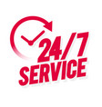 24 7 service icon vector image