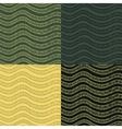 Abstract wavy seamless pattern set in contrast vector image vector image