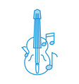 acoustic guitar with music notes vector image vector image