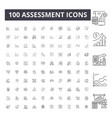 assessment line icons signs set outline