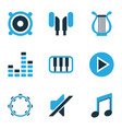 audio colored icons set collection of mute piano vector image vector image