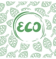 Background with leaves and the inscription Eco vector image vector image