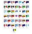 Badges with flags of America
