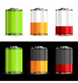 battery levels vector image vector image