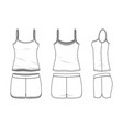 blank clothing templates vector image vector image