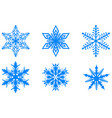 blue winter christmas set snowflakes isolated on vector image vector image