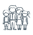 blurred blue contour faceless family group in vector image vector image