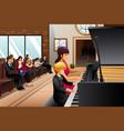 boy in piano recital vector image vector image