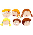 Boys and girls being hurt vector image vector image