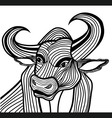 Bull head animal for t-shirt vector image