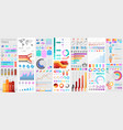 bundle infographic ui ux kit elements with charts vector image