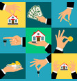 buy house hands hand holds vector image vector image