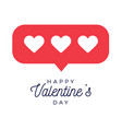 card or flyer valentine red heart like counter vector image vector image
