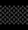 cat skull symbol with crossed bones pattern black vector image