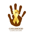 Childhood cancer day golden ribbon vector image vector image