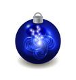 christmas ball isolated on white background vector image vector image