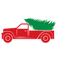 christmas tree and truck icon vector image