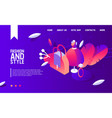concept banner or landing page template with vector image vector image