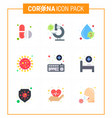 coronavirus prevention 25 icon set blue attach vector image vector image