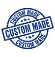 custom made blue round grunge stamp vector image vector image