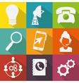 customer service set flat icons vector image vector image
