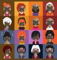 Cute hippo avatars vector image