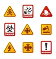 Danger sign icon vector image